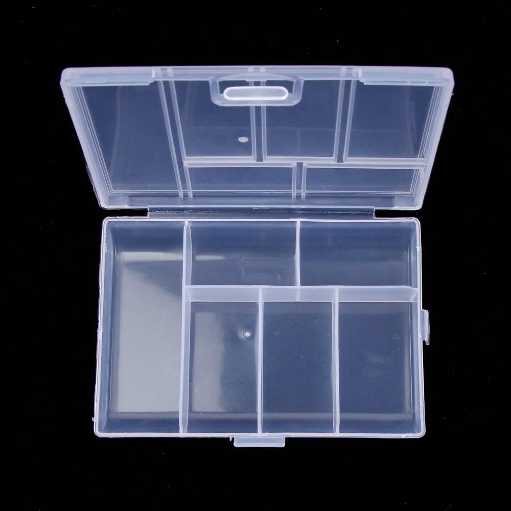 Новый мини держатель диспенсер ювелирные изделия Организатор поле Пластик прозрачный монета Pill Box Дело органайзера инструмент