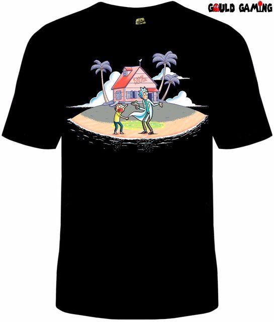 7fd4f3dc Rick and Morty Portal Kame House T-Shirt Unisex Cotton TV Sizes Dragonball  Z New