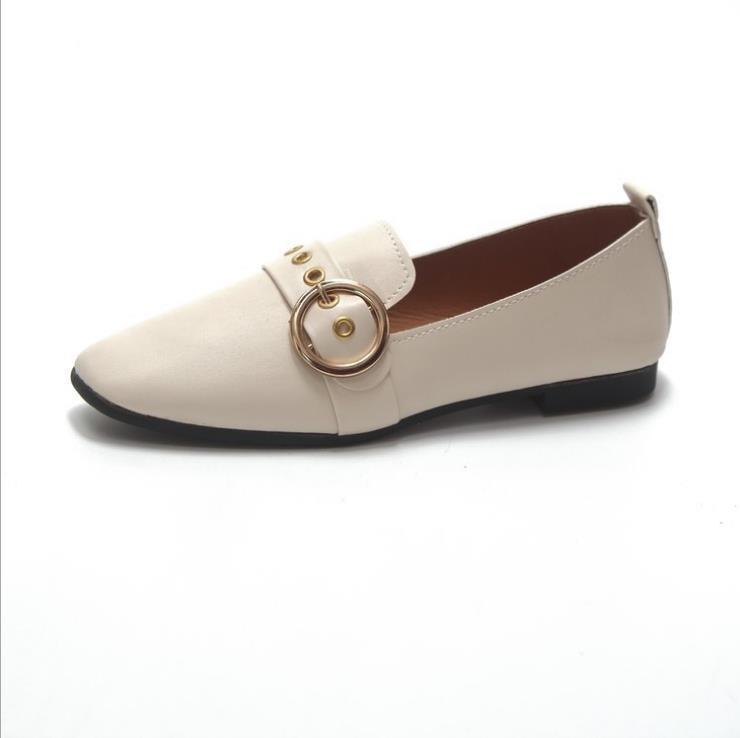Britannique Avec Femelle Bouche Petites noir Chaussures Simples Profonde Tête Beige Sauvage 2018 Nouvelle Carrée Peu Vent Automne Mot xRwY7nqZg8
