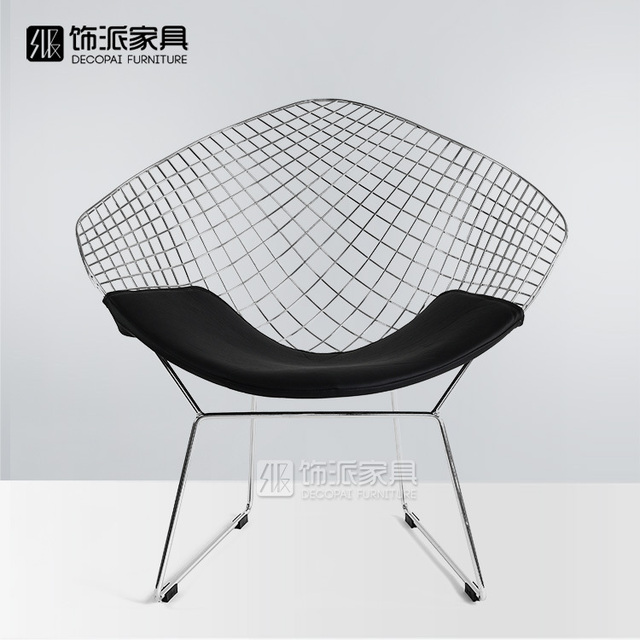 steel net chair arsenal inflatable diamond mesh decorated send chrome plated chairs metal leisure modern designers barbed wire