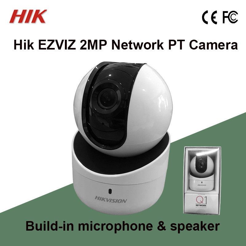 US $78 0 |Hik connect DS 2CV2Q21FD IW Hik EZVIZ 2MP Network PT Camera Home  Type Build in microphone & speaker, two way audio USB w/ WiFi-in