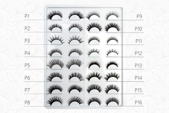 strip lash 16 styles/plate 3D faux mink lashes P/Q series customize logo wholesale handmade craft makeup fedex free shipping