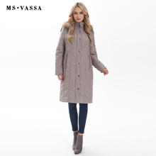 MS VASSA Winter Parkas Women 2017 New Fashion Autumn ladies long jackets detachable hood with fake fur plus size 7XL outerwear