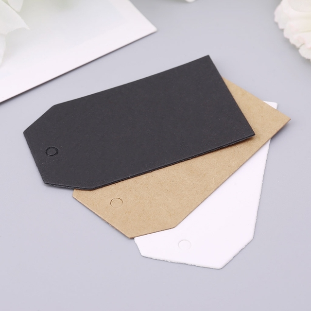 5218dbc8fa5b US $2.16 14% OFF|100pcs Vintage Kraft Paper Gift Hang Tags Jewelry Price  Label Craft Decor 7x4cm-in Party DIY Decorations from Home & Garden on ...