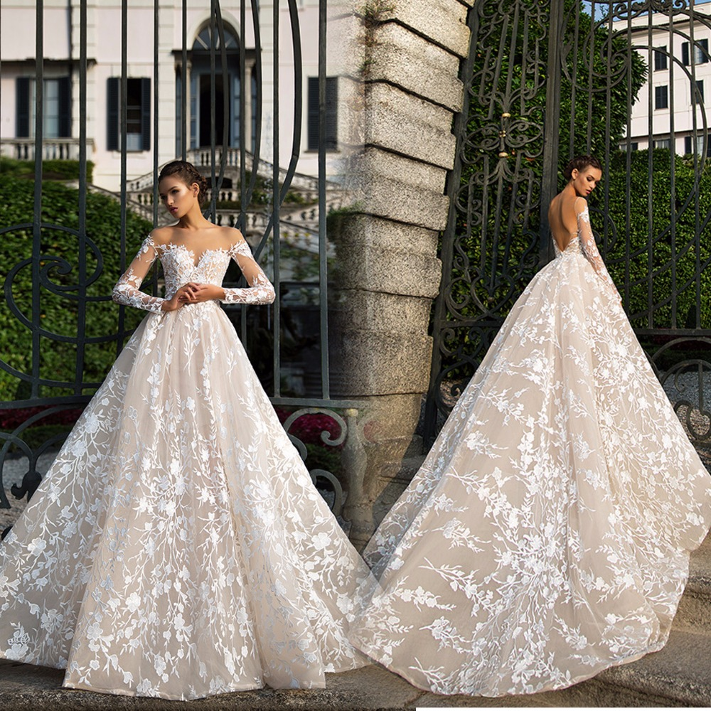 lace vintage wedding dress Aliexpress com Buy Hot sale old fashioned lace vintage wedding dresses V neck A line Chapel train Backless Button Lace Champagne Sexy from R