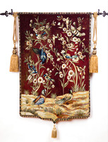 Beautiful tapestry 100% cotton woven tapestry home decoration flowers and birds GT N0054
