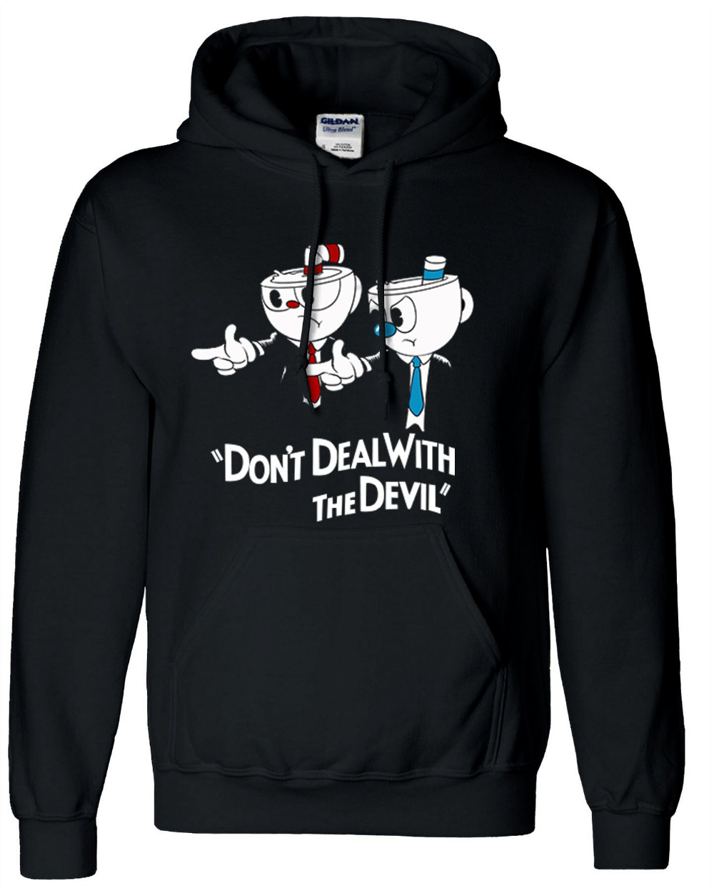 MugmanGame Teacup Jacket Cuphead Coat Cosplay only don't deal with the devil Black Coats Costume Warm Winner Sweatshirt Cosplay