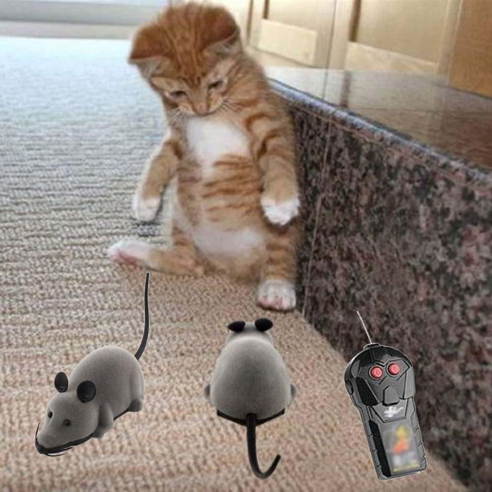 Wireless Remote Control Rat Mouse Toys For Pets Cats Dog RC False Mice Novelty Funny Toy Kids Gift Toy RC Funny Playing Mouse