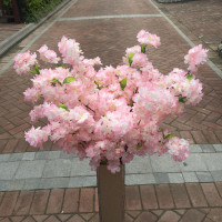 Length 100cm Decorative Cherry Flowers Artificial Flowers DIY Festival Floar Wreath Arches Many Uses Garden Sakura