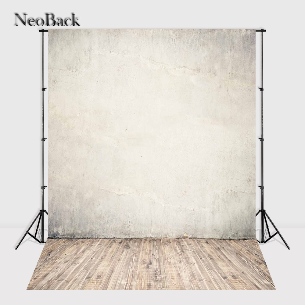NeoBack 3x5ft 6x9ft Vinyl Cloth Wall Wood Floor Photo backgrounds new born baby children photo shooting printed Backdrops P1175