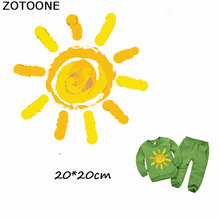 ZOTOONE Warm Sun Patches Iron on Transfers Sticker for Clothes Cartoon Diy T-shirt Dresses Girl Clothing Applique E