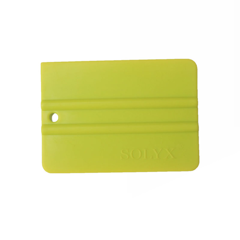 Good Quality Vehicle Wrap Applicator 10*7.5cm Bump Cards Green Solf Squeegee For Car Wrapping MX-C-71 Whole Sale
