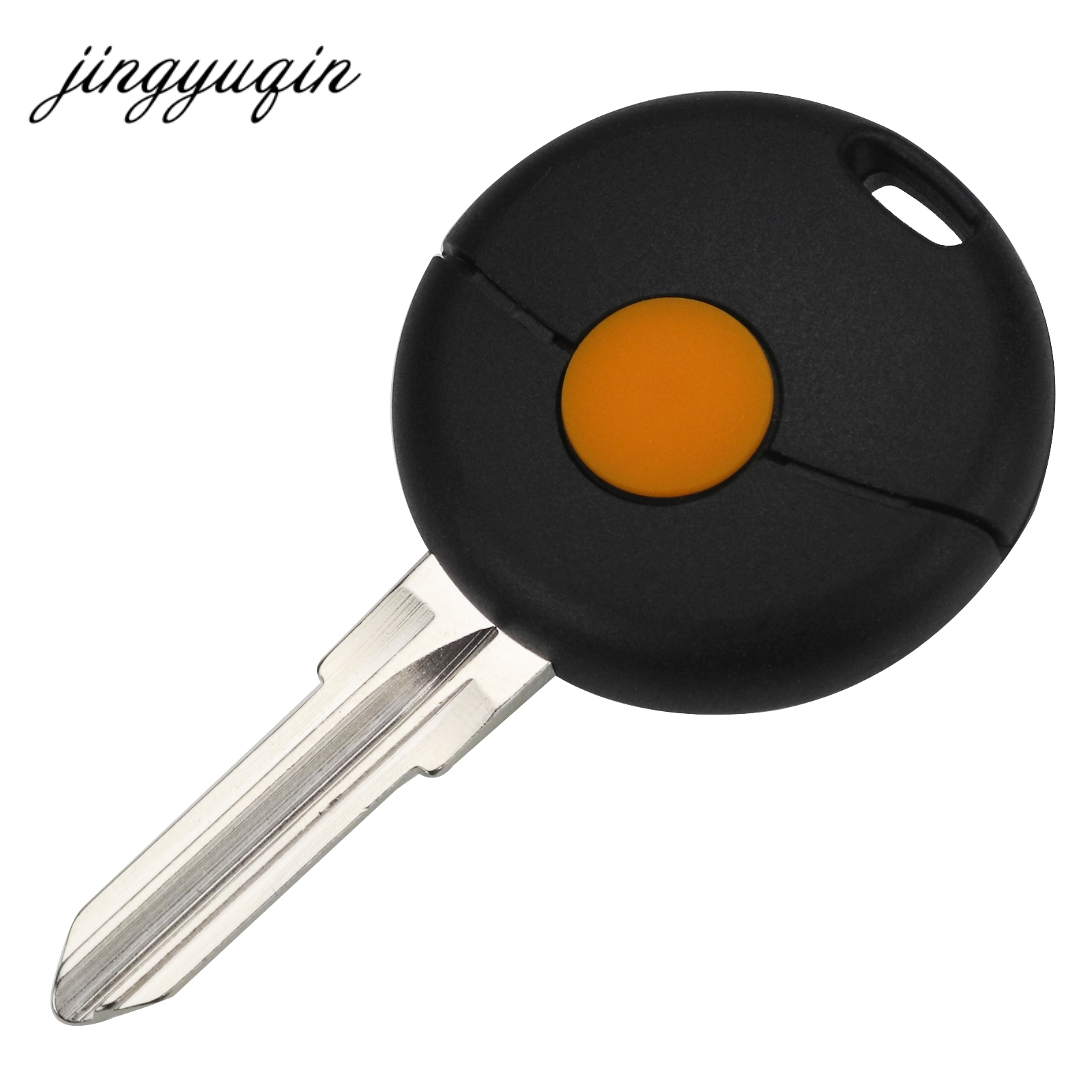 jingyuqin 1 Button Remote Car Key Shell For Mercedes For Benz Smart Fortwo Cabrio City Cross Fob Case Cover okeytech for mecerdes benz mb smart fortwo forfour city roadster auto remote key fob blade 433mhz 3 button smart card for benz