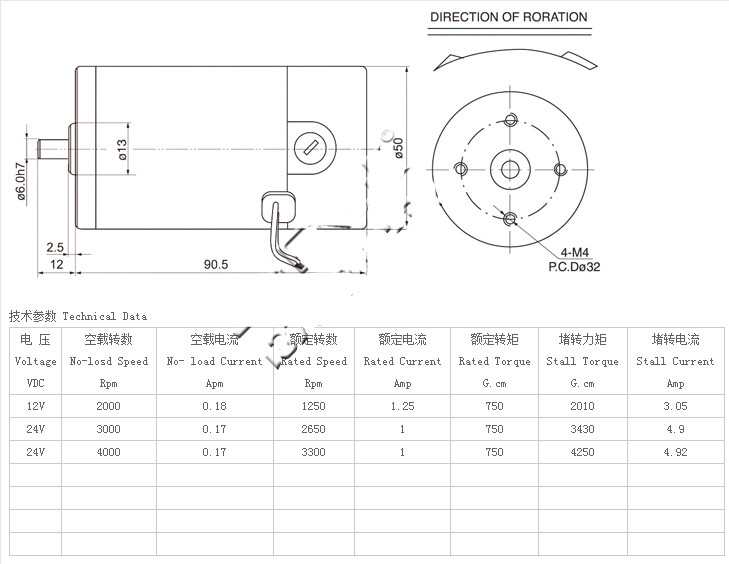 Zytd 50srz R Dc 12v 24v 50mm Dia Micro Motorstorque Reversible