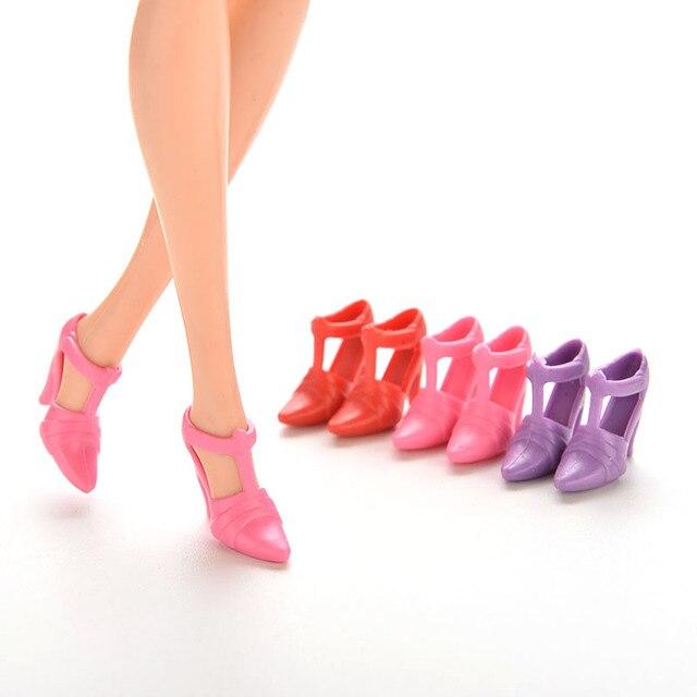 mezclar unids pairs zapatos botas para nias muecas casa de juego de color