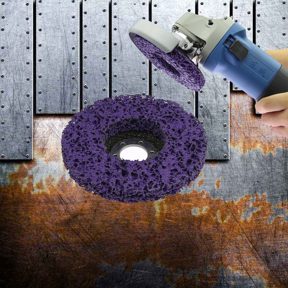 1 Piece 115*13*22mm Angle Grinder Poly Strip Disc Rust Remover Paint Clean Abrasive Flap Wheel