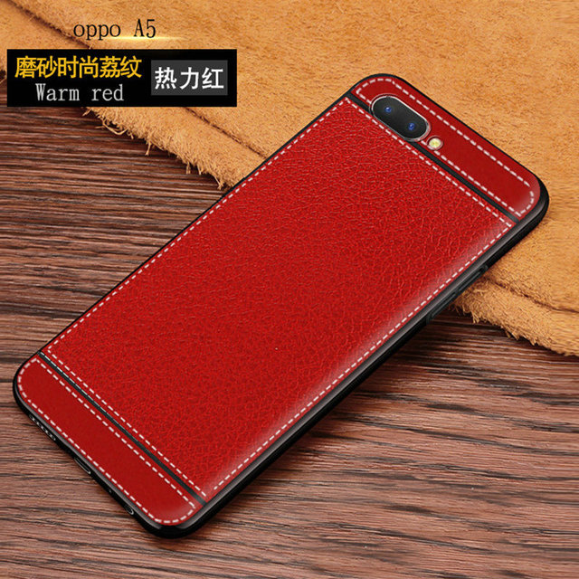 timeless design 70c48 ad169 US $2.45 18% OFF|6.2'' Case for OPPO A3S Retro Vintage Synthetic Leather  Skin Soft TPU Back Cover Case For OPPO A3 S Ultra thin Slim Phone Cases-in  ...