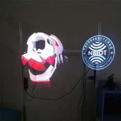Дропшиппинг 1 светодио дный М 3D светодиодный голографический проектор свет голограмма плеер 3D голографический дисплей вентилятор плеер