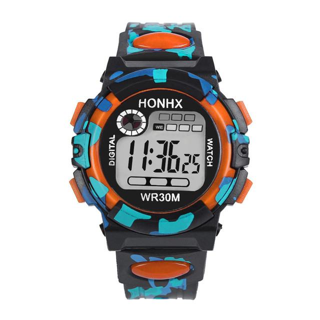 2018 LED Digital Military Watch Kids Child Boy Girl digital watches Multifunctio