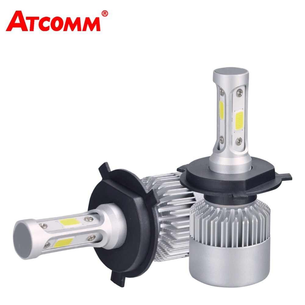 ATcomm 2Pcs LED H7 Car Headlight H1 H4 Hi-lo H11 H8 H9 9005/HB3 9006/HB4 12V 24V COB 6500K 8000Lm 72W Auto LED Ice Lamp