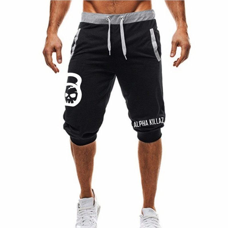 2019 Brand Summer Casual Cotton Men's Shorts Fashion Print Sports Bermuda Print Sweatpants Fitness Jogging Shorts Men