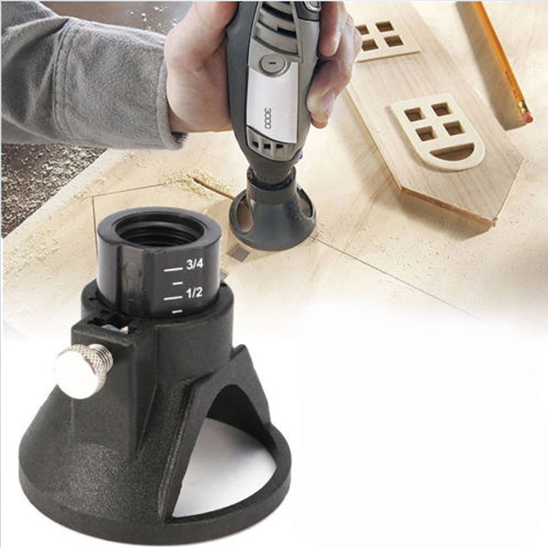 Router Drill Bits Set Rotary Tool Locator Cutting Guide Attachment