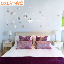 DIY Wall Sticker Floating Flowers Decorative Mirror Wall Stickers Living Room Bedroom Wall Decor Kids Baby Room Decoration Home mirror wall stickers sticker room decoration home decor kids for bedroom variety fonts name letters alphabet customizable r242
