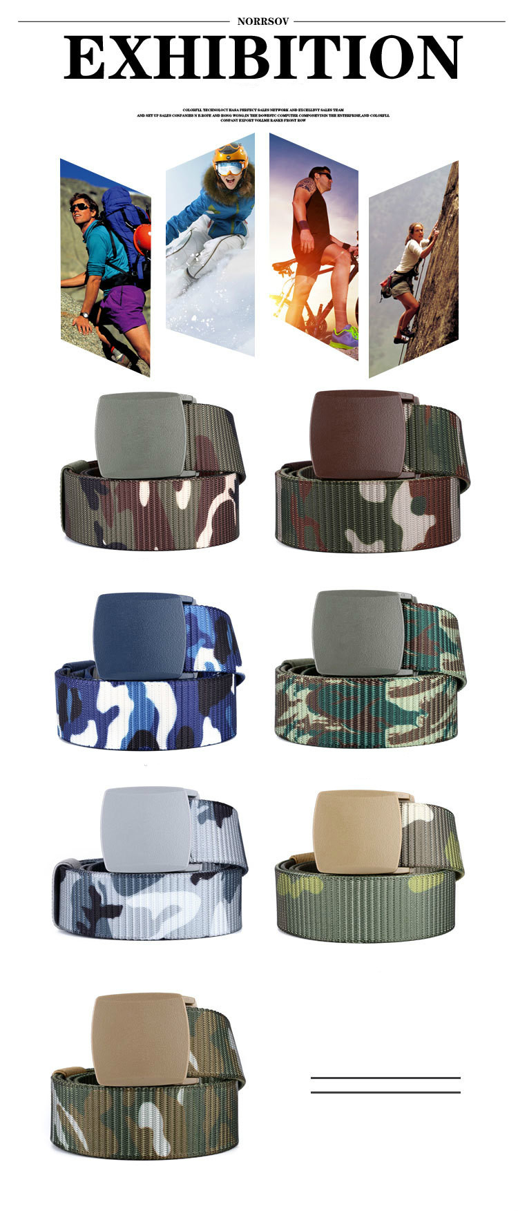 Compre LFMB Moda Cinturón De Camuflaje Masculino Sin Metal Al Aire ... 055e7442bc02
