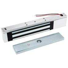 باب واحد 12 فولت الكهربائية المغناطيسي قفل الكهرومغناطيسي 180 كجم (350LB) القوة القابضة للتحكم في الوصول