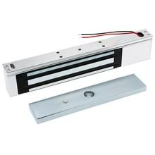 Cerradura Electromagnética magnética eléctrica de una puerta, 12V, 180KG (350LB), fuerza de retención para Control de acceso