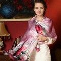 2016 женщины 100% шелковый шарф платок весна осень шелковые шарфы длинный набивные платки пляж n-ups 175 * 52 см 17 цветов AM220