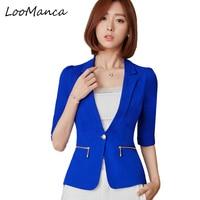 New Arrival Short Sleeve Jackets Ladies Blazer Coat Business Women Work Wear Tops Outwear Uniforms Female Suit the feminine
