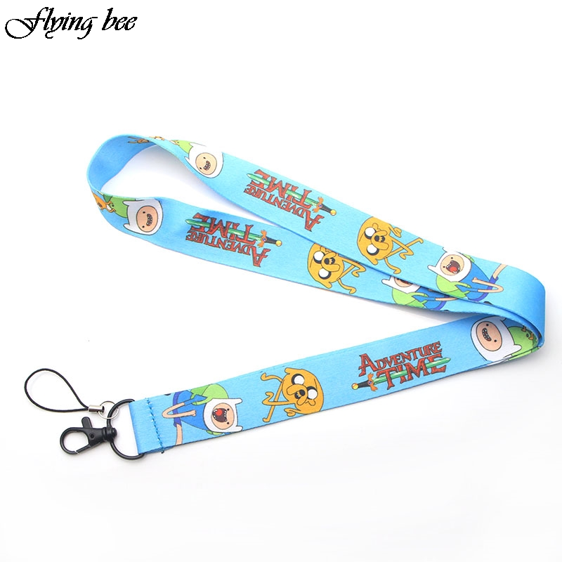 Flyingbee Creative Theme Keychain Cartoon Cute Phone Lanyard Women Fashion Strap Neck Lanyards For ID Card Phone Keys X0091