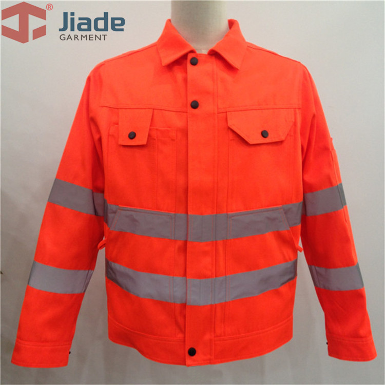 Jiade Adult High Visibility Jacket Long Sleeve Jacket Men's Work Reflective Jacket HV Orange/Yellow/Pink Free Shipping