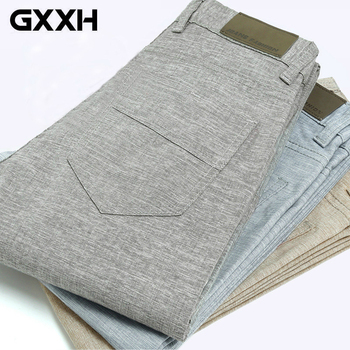 Men's Linenn Pants Casual Slim Fit Pants