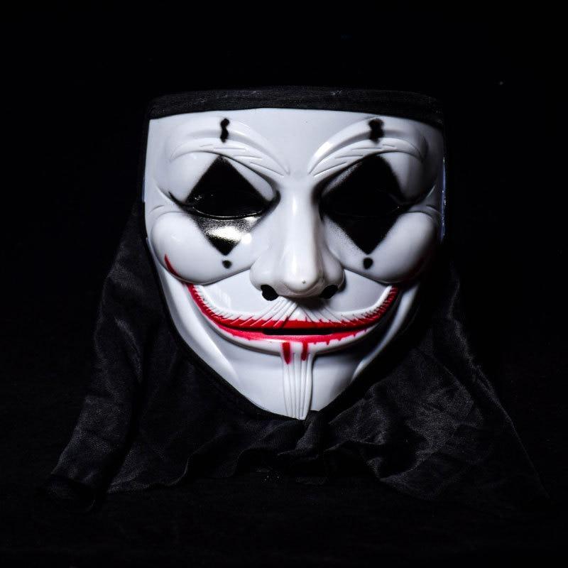 Ainclu Halloween Scary V Character Eye Diamond Clown Mask Clown Ghost Skull Vendetta Stage Hip-Hop Male Adult Mask