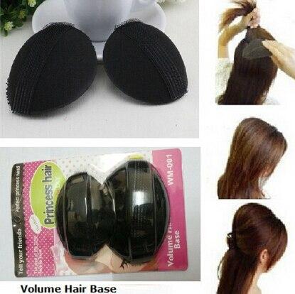 1sets 2pcs Black Hair Base P Styling Insert Tool Volume Pit Princess