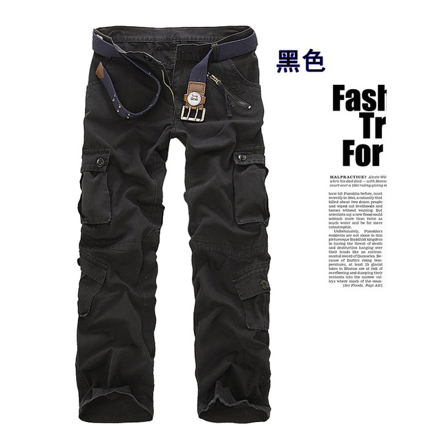 men's pants camping hiking Camouflage Cargo Pants Plus Size Multi-pocket Overalls Trousers 4