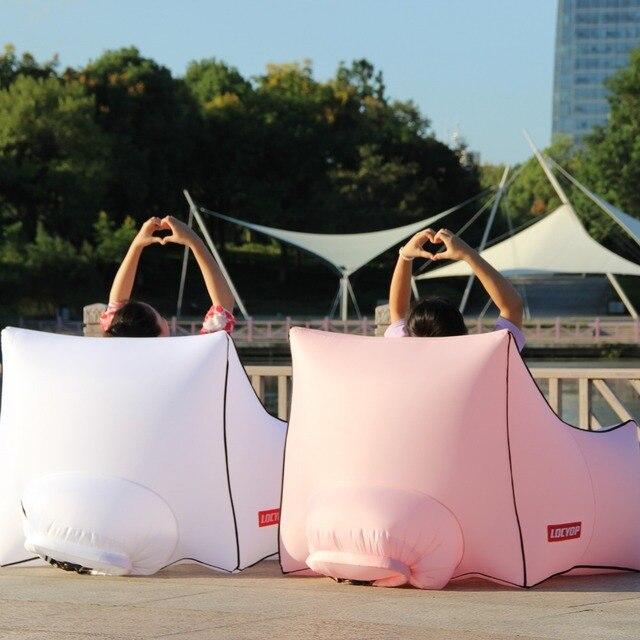 Inflatable bean bag lounger 5