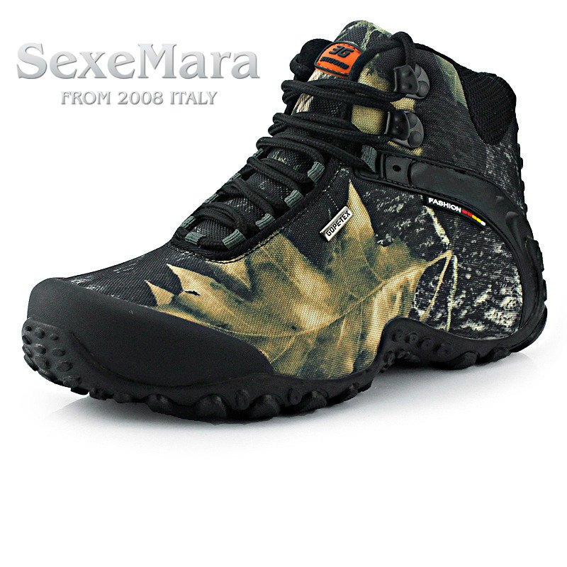 sexemara brand men and women outdoor Hiking shoes waterproof canvas sport trekking boots Anti-skid Wear Mountain Climbing Shoes kelme 2016 new children sport running shoes football boots synthetic leather broken nail kids skid wearable shoes breathable 49