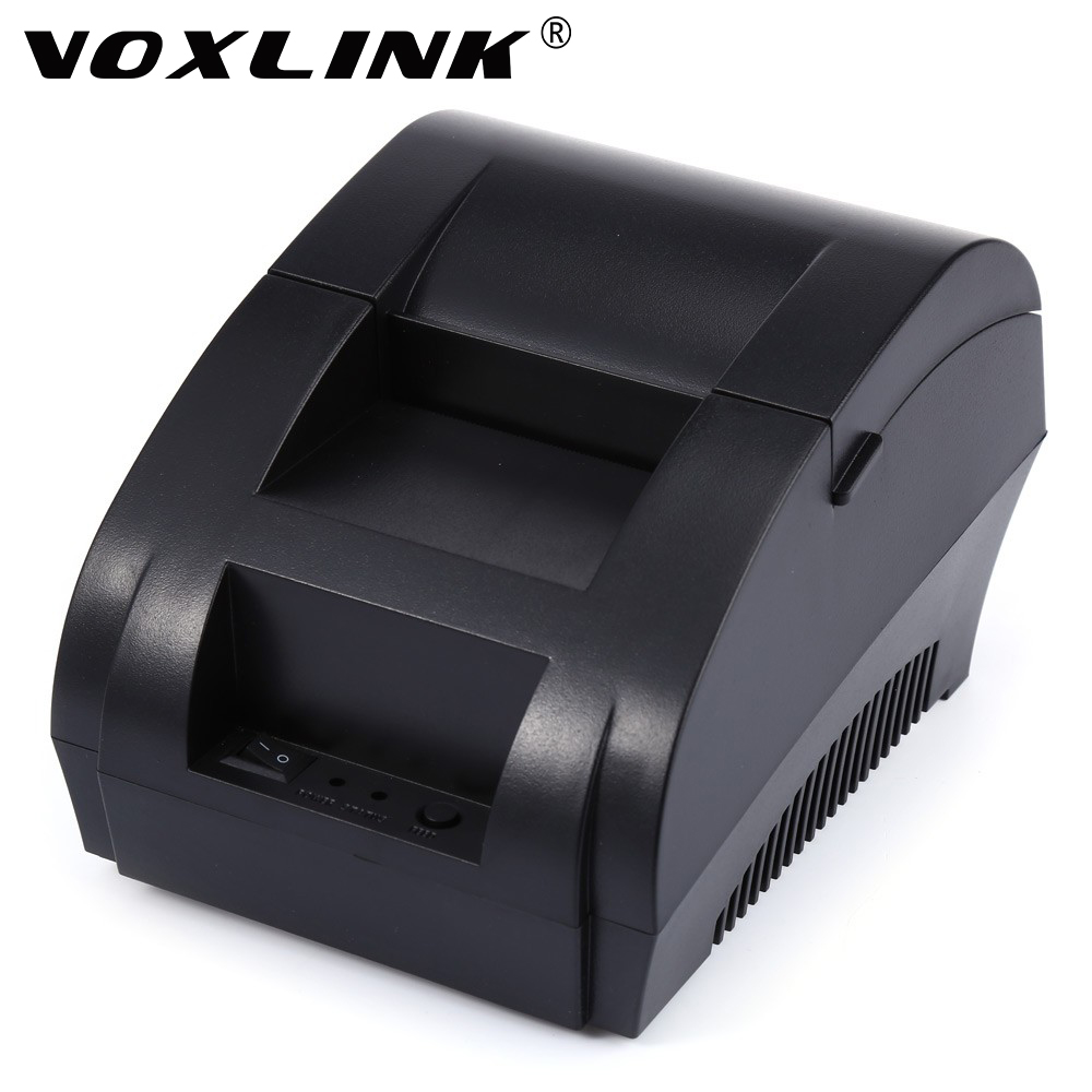 VOXLINK Mini 58mm USB POS Receipt Thermal Printer Mini Desktop Thermal Receipt Ticket For Supermarket Hotel serial port best price 80mm desktop direct thermal printer for bill ticket receipt ocpp 802