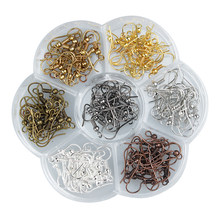140 pcs/box 7 warna Campuran Logam Iron Earring Hooks 18mm Earring Kabel Fit Drop Earrings Jepit Earring Pin Perhiasan temuan F3503(China)