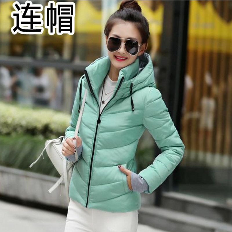 casacos com capuz parka feminino grosso algodão