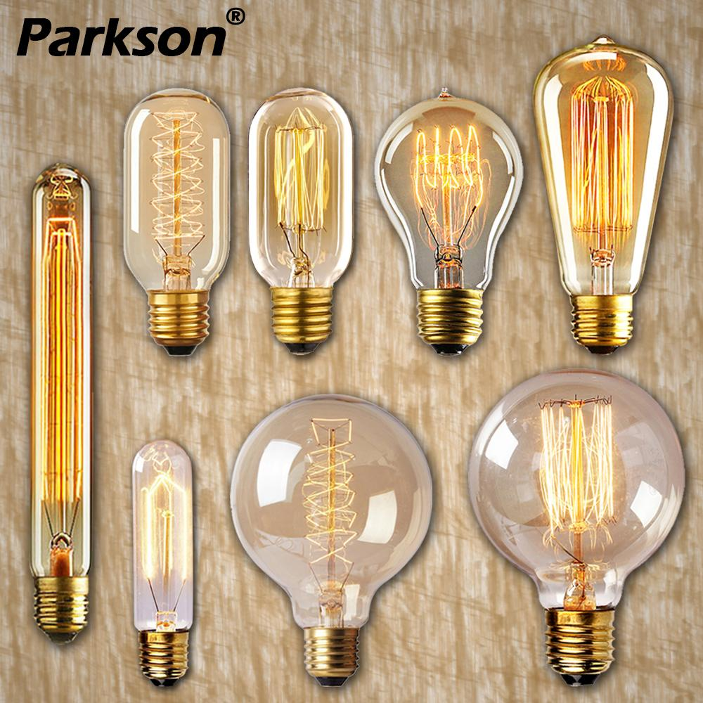 Edison Bulb Lampada Retro Lamp Incandescent E27 40w 220V Ampoule Vintage Bulb Edison Lamp Filament Light Bulb For Home Decor