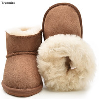2017 Australia Baby Boots Winter Sheep Skin Leather And Fur Baby Shoes Waterproof Infant Newborn Leather