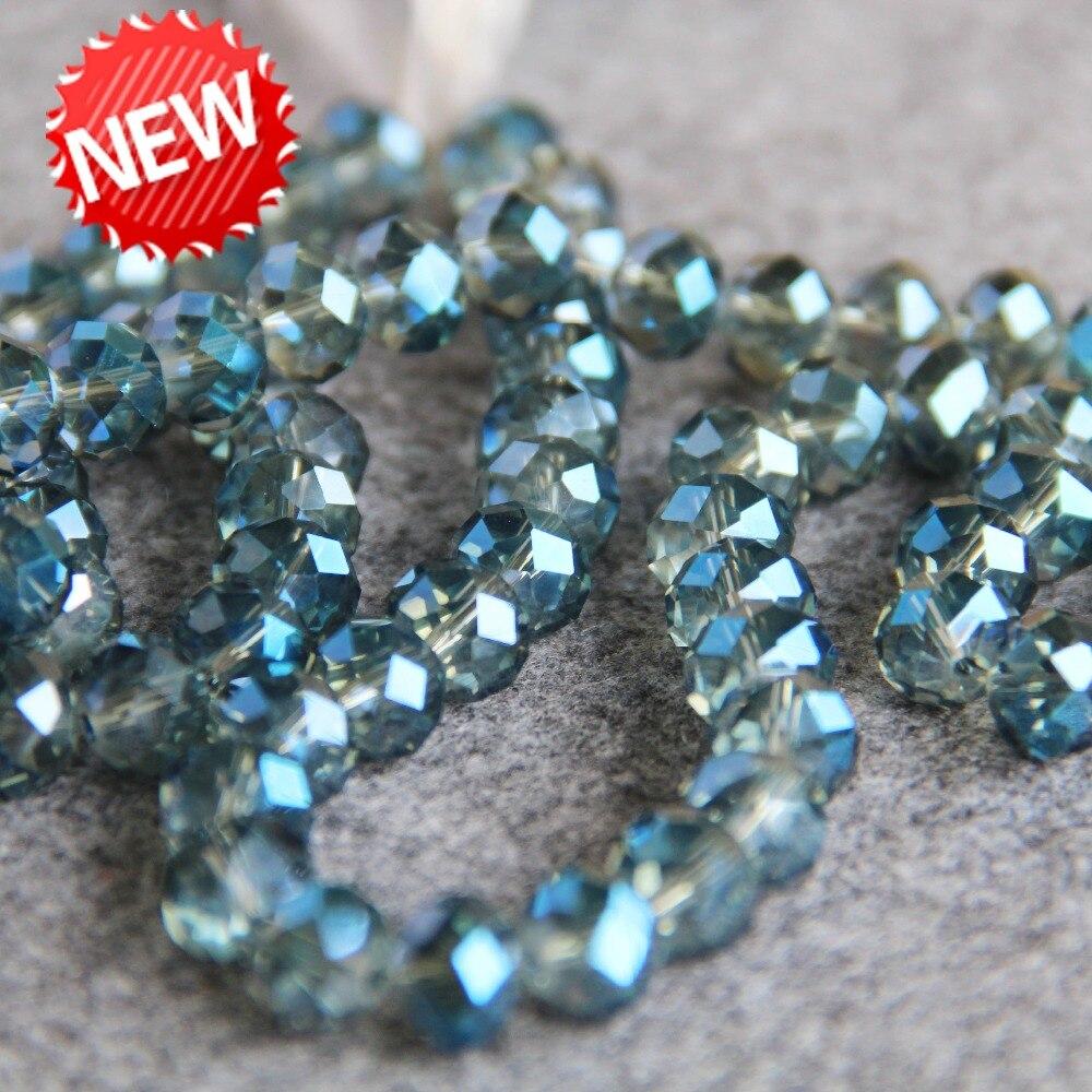 Sadingo cuentas de vidrio azul oscuro 10 stk - 8 mm DIY joyas perlas para pulsera