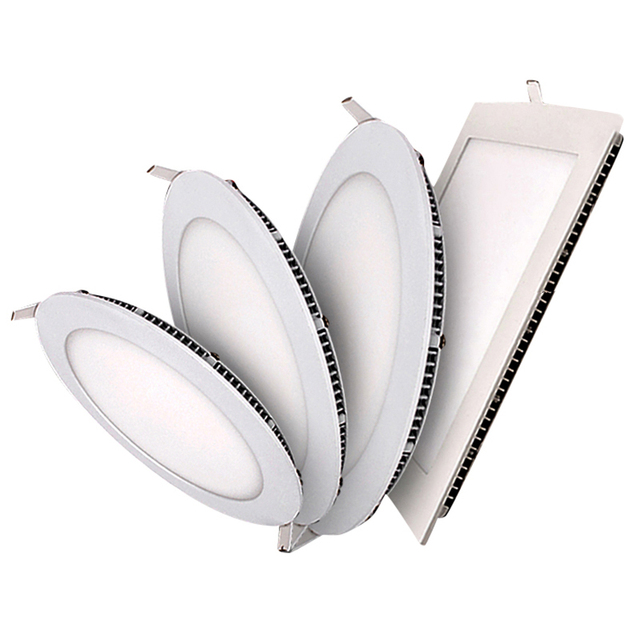 3W/6W/9W/12W/15W/18W LED ceiling led downlight square/round panel light bulb AC110V 220V Warm /Cool white,indoor lighting