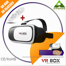 2016 Hottest VR BOX 2.0 Version 3D Smart Virtual&Reality Glasses for 3D Game Movie for 3.5-6.0 Phone with Bluetooth Remote