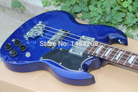 New Arrival Nostalgia Series Blue SG BASS Guitar Best OEM Musical Instruments Free Shipping