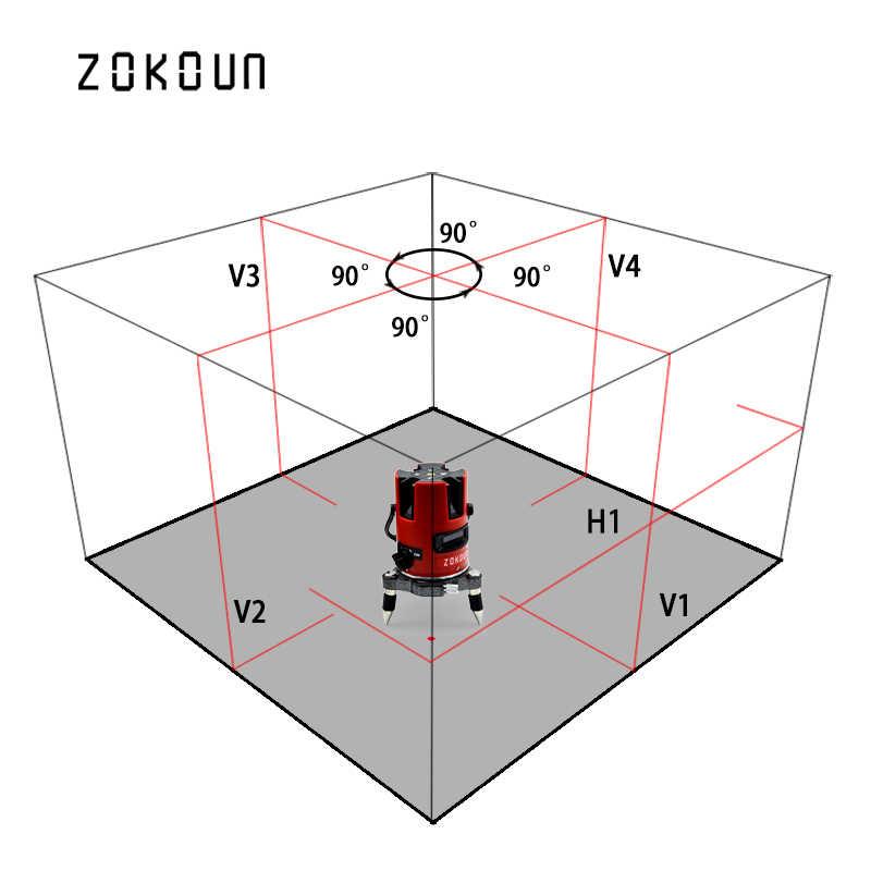 EU zokoun 아름다운 틸트 기능 360 학위 로타리 5 라인 6 포인트 레이저 레벨